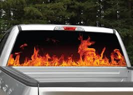 Fire Flames Rear Window Graphic Miller Graphics