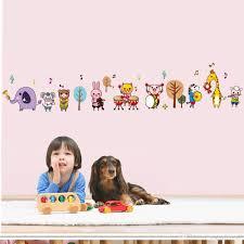 Cartoon Animals Music Band Wall Stickers For Kids Boys Girls Room Nursery Tree Music Note Wall Applique Diy Home Decor Wallpaper Art Sticker Decor For Walls Sticker Decorations For Walls From Magicforwall
