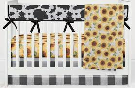 cow hide crib bedding set