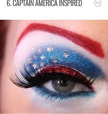 4th of july makeup ideas by sanah malik
