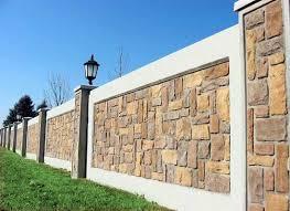 Pin By Jezelle Charles On Disenos De Bardas Exterior Wall Design Compound Wall Design Compound Wall