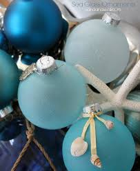 sea glass ornaments sand and sisal