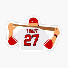 Mike Trout Stickers Redbubble