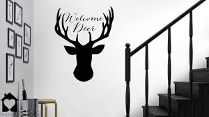Welcome Deer Wall Decor Pun Door Decal Entry Room Sticker Welcome Dear Vinyl Decor 2029 Vinyl Decor Deer Wall Room Stickers