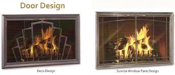 glass fireplace doors dallas chimney