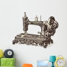 Vintage Sewing Machine Wall Decal Wallmonkeys Com