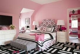 pink and black kids room contemporary