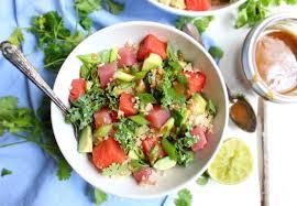 quinoa poké bowl with tahini soy sauce ...