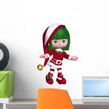 Christmas Elf Red Wall Decal Wallmonkeys Com