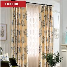 herb printed linen curtains