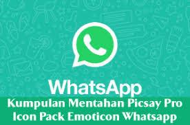 kumpulan mentahan picsay pro icon pack emoticon keren