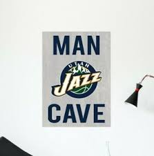 Utah Jazz Logo Wall Decal Nba Basketball Team Man Cave Home Room Decor Cg1701 Ebay