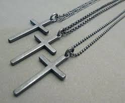 cross necklace silver jewelry