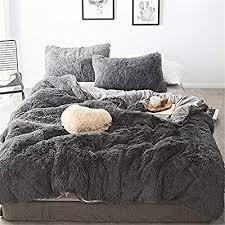 4 pcs luxury gy plush bedding sets