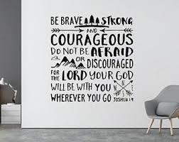 Joshua 1 9 Decal Etsy