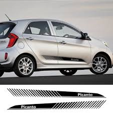 2pcs Sport Car Styling Door Side Skirt Stripe Sticker For Kia Picanto Auto Vinyl Decor Decal Car Stickers And Decals Accessories Wish