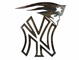 Yankees Patriots Metal Art Decor