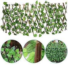 Artificial Leaf Faux Ivy Expandable Stretchable Privacy Fence Screen Anti Insect Folding Expandable Wooden Trellis Panel Artificial Leaf Outdoor Garden Backyard Decor For Outdoor Indoor Use Garden Amazon Co Uk Kitchen Home