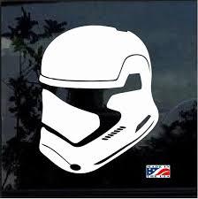 Star Wars First Order Trooper Helmet Window Decal Sticker Custom Sticker Shop Helmet Stickers Car Decals Stickers Window Decals