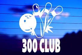 300 Bowling Club Car Decal Sticker