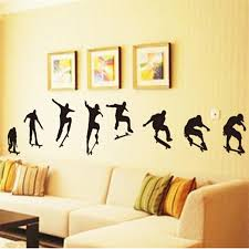 Big Wall Sticker 240 50cm Street Boys Skateboard Wall Decals Fashion Sticker For Gym Mural Living Room Sofa Background Wallpaper Wall Decals Stickers Wall Stickerstickers For Aliexpress