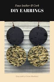 these faux leather earrings are easy to