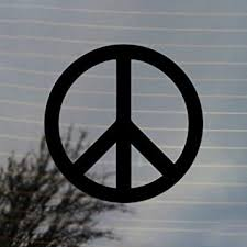 Amazon Com Peace Sign Activism Vinyl Decal Black Automotive