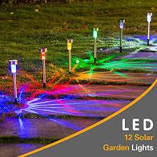 wellgium solar lights outdoor solar