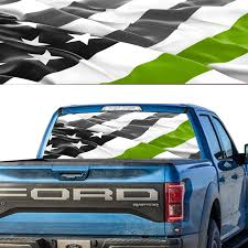 Car Rear Window Graphic Decal American Flag Army Green Thin Linepick Up Truckwindow Tint Car Stickers Aliexpress
