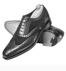 suede wingtip formal shoes