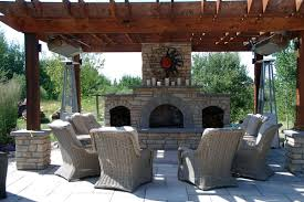 outdoor fireplaces heat up the night
