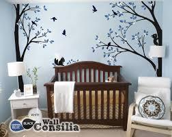 Creative Nursery Corner Trees With Squirrelswallconsilia Com
