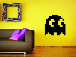 Pac Man Ghost Wall Mural Vinyl Decal Sticker Decor Game Gamer Etsy