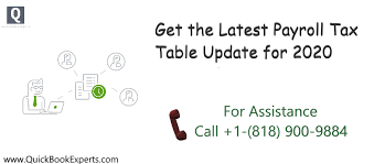 payroll tax table update in 2020