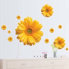 Colorful Flower Floral Wall Stickers Living Room Bedroom Wall Decals Home Decor Sticker Kitchen Mural Decoration Wish
