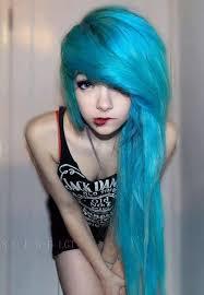 how to dye blue hair scene s