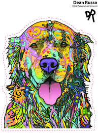 Amazon Com Enjoy It Dean Russo Golden Retriever Car Sticker Outdoor Rated Vinyl Sticker Decal For Windows Bumpers Laptops Or Crafts Toys Games