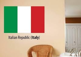 Design With Vinyl Italian Republic Italy Flag Wall Decal Wayfair