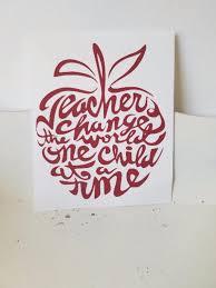 Teacher Decalteacher Appreciationappleapple Etsy