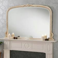 antique french style overmantle mirror