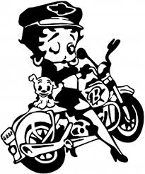 Betty Boop On Motorcycle With Dog Car Or Truck Window Decal Sticker Rad Dezigns
