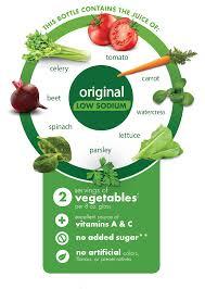 v8 vegetable juice low sodium