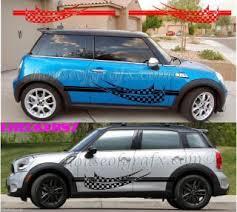 Custom Mini Cooper Checkered Decals Graphics All Colors Mini Cooper Mini Cooper Accessories Mini