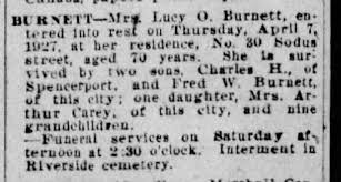 obituary for Lucy Ophelia Smith Burdett - Newspapers.com