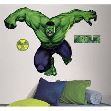 Incredible Hulk Giant Wall Decal Hulk Wall Decal Hulk Bedroom Room Stickers