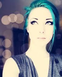 make up cute emo scene blue hair