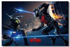 Custom Canvas Wall Decals Ant Man Poster Ant Man Wallpaper Yellowjacket Wall Stickers Mural Office Living Room Paintings 0446 Wall Stickers Aliexpress