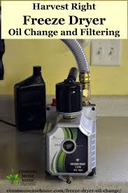 harvest right freeze dryer oil change