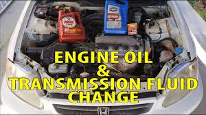 engine oil transmission fluid change