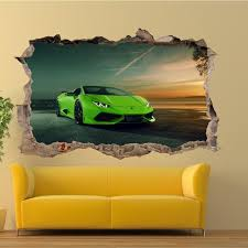 Sports Car Wall Stickers Murals Decals Art Wallstickerarts